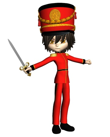 Prince or toy soldier from the Christmas ballet, The Nutcracker, toon-style 3d digitally rendered illustration illustration