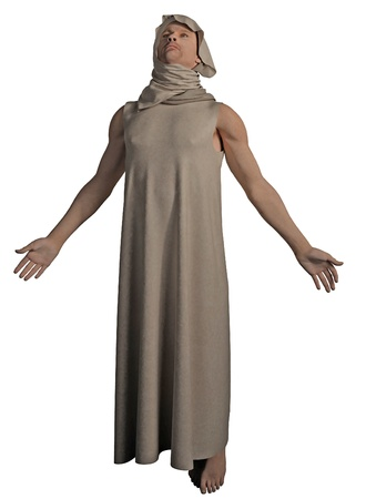 robes: Illustration of a robed mystic or holy man ascending, 3d digitally rendered illustration Stock Photo