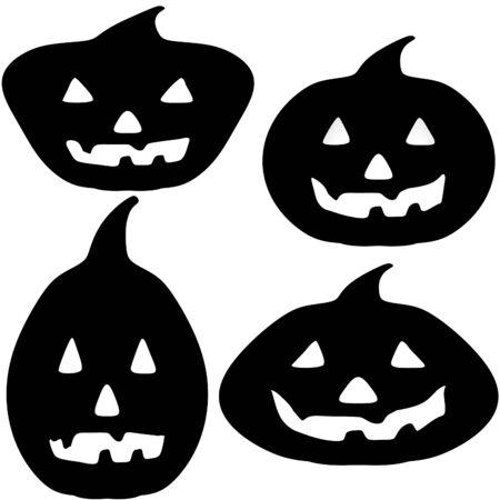 Jack-o-linterna De Calabaza De Halloween Ilustración Digital Fotos ...