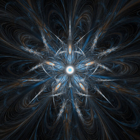 3d dimensional: Blue eyes abstract flame fractal design
