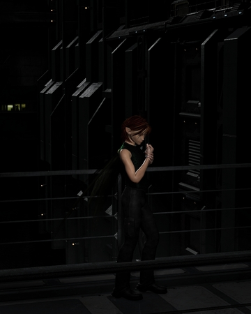 fey: Illustration of a Male urban fairy in the dark city streets at night, 3d digitally rendered illustration