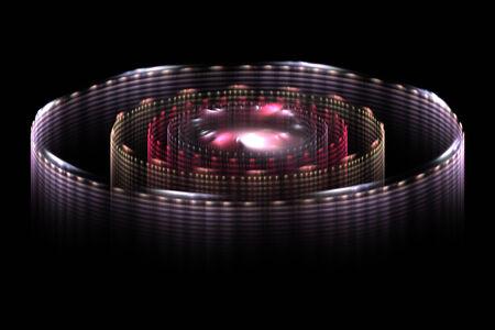 circulos concentricos: Torres concéntricos diseño de ciencia ficción fractal abstracta para los fondos y fondos de pantalla Foto de archivo