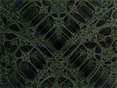 girders: Alien pillars abstract fractal science fiction design in the form of green lace girders for backgrounds and wallpapers Stock Photo