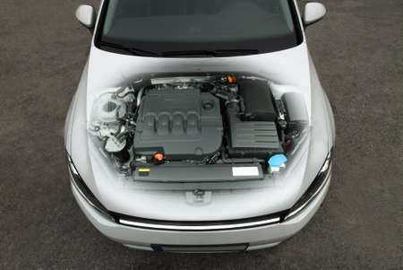 transparent car engine Standard-Bild