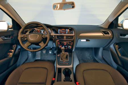airbag: Interior of a modern car Stock Photo