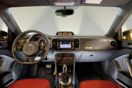 Interior of a modern car photo