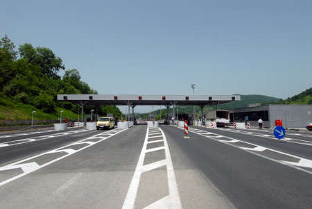 new toll booths on the highway
