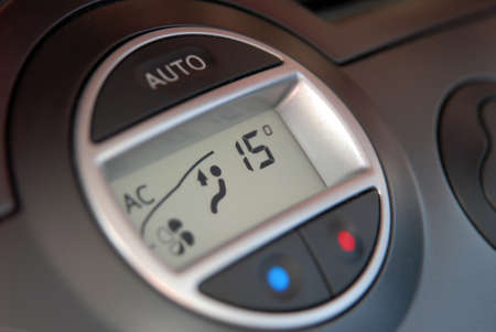Car air condition button and display design with options photo