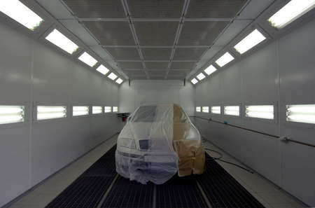 The car is prepared in the paint shop
