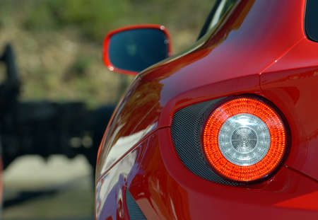 tail light: The taillights on a modern sports car