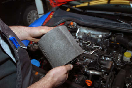 mileage: replacement of air filter