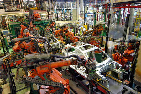 factory line: car production line Editorial