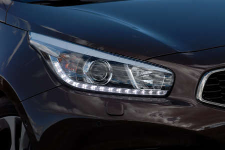 headlights: Headlight of the modern car