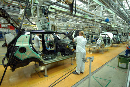 new automobiles: car production line Editorial