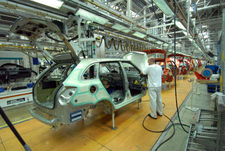 automobile industry: car production line Editorial