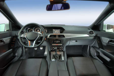 studio shot modern car interior photo