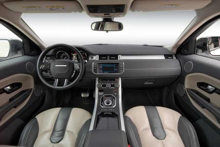 studio shot modern car interior