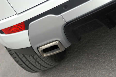 car exhaust: exhaust pipe for a sporty SUV Stock Photo
