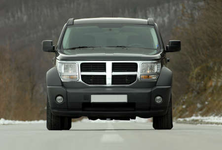 front view of suv car