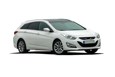 Großen weißen T-Modell Auto Standard-Bild - 33651798