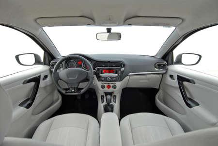 transport interior: modern car interior
