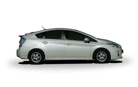 hybrid car: white hybrid car Editorial