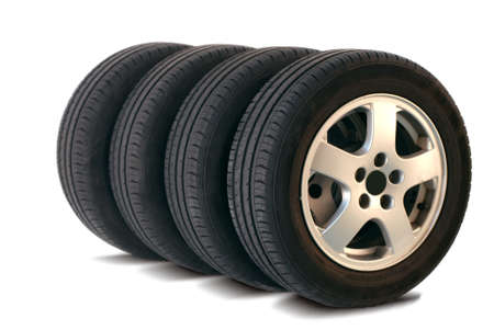 four summer tires Stock Photo