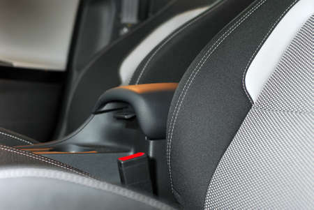 vehicle seat: thread on seat, car interior Editorial
