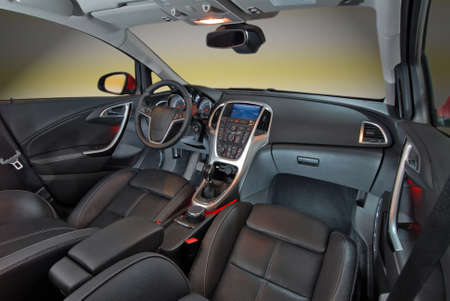 leather belt: car interior