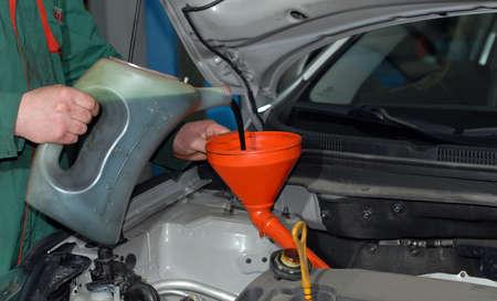 connotation: Adding Oil to a Car engine