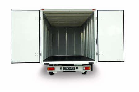 opened delivery van Standard-Bild