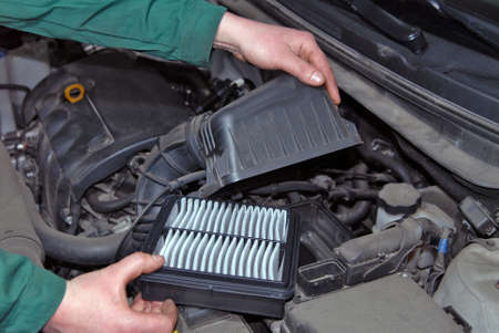 replacement of air filter photo