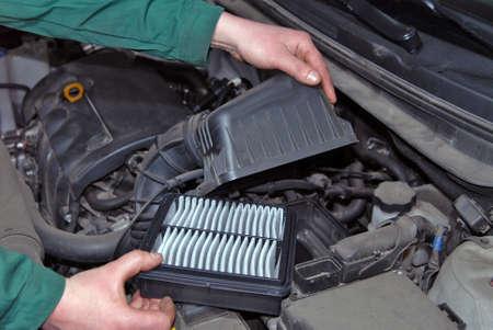 air filter: replacement of air filter