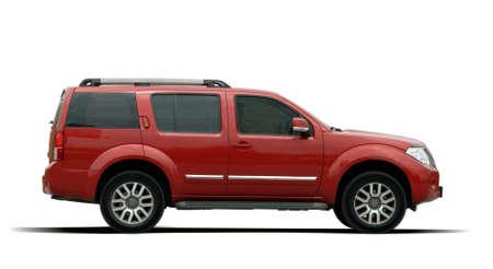 SUV rosso di grandi dimensioni