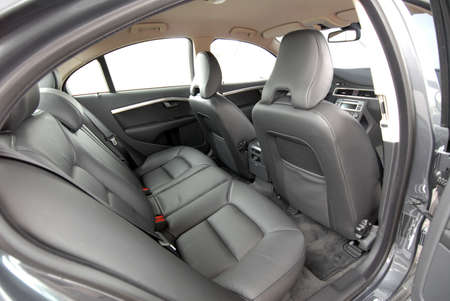black rear seat in the passenger car