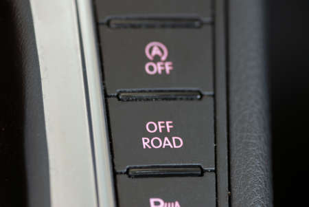 activate: button to activate the off-road performance of the car Stock Photo