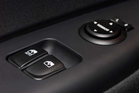 Car door handle with power window control unit photo