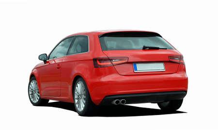 hatchback: red hatchback Editorial