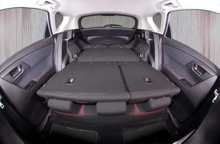 car trunk: car trunk with rear seats folded