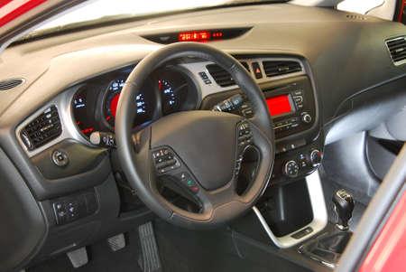 car interior, steering wheel photo