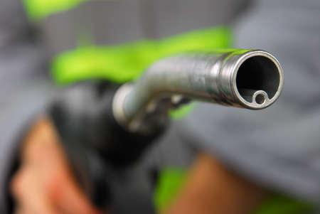 green power: Gas Pump Nozzle Stock Photo