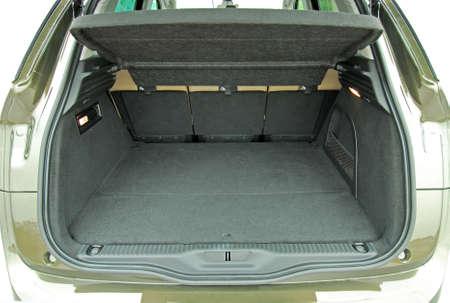 car trunk: empty car trunk