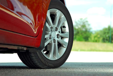 alloy wheel: tire and alloy wheel on this high performance sports car
