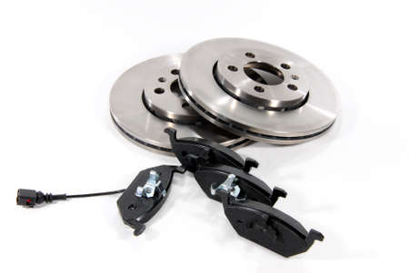 discs: four brake pads and two new brake discs for the car