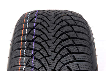Fragment A brand new modern winter car tire