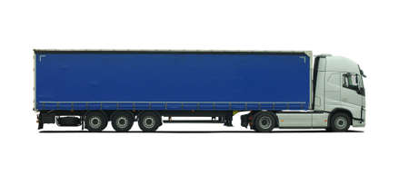 gros camion avec semi-remorque