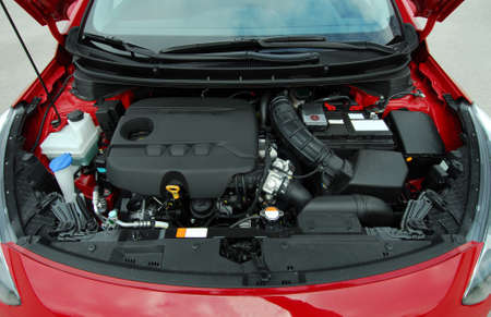 car clean: car engine