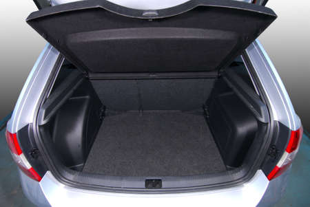 spare car: empty car trunk