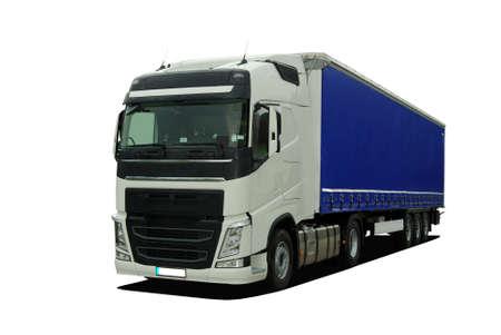 semi trailer: large truck with semi trailer