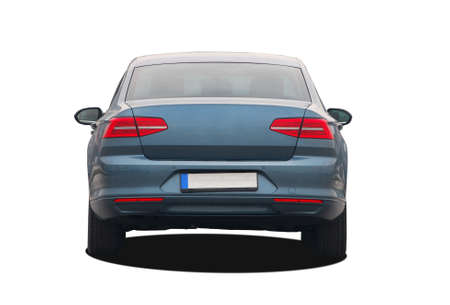 blue car rear View 스톡 콘텐츠